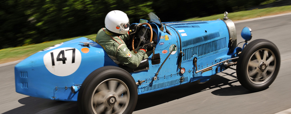 Blue classic racing car Prescott Speed Hill Climb
