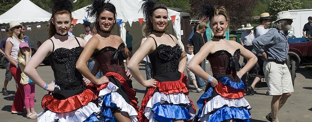 """Bugatti Owners Club """"La Vie en Bleu"""" dancers"""