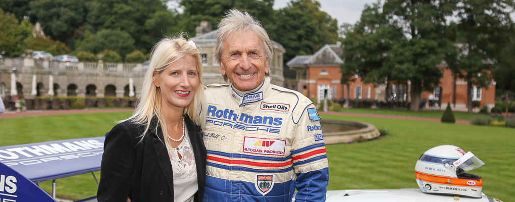 Derek Bell MBE and Rebecca Leppard of Eventageous PR