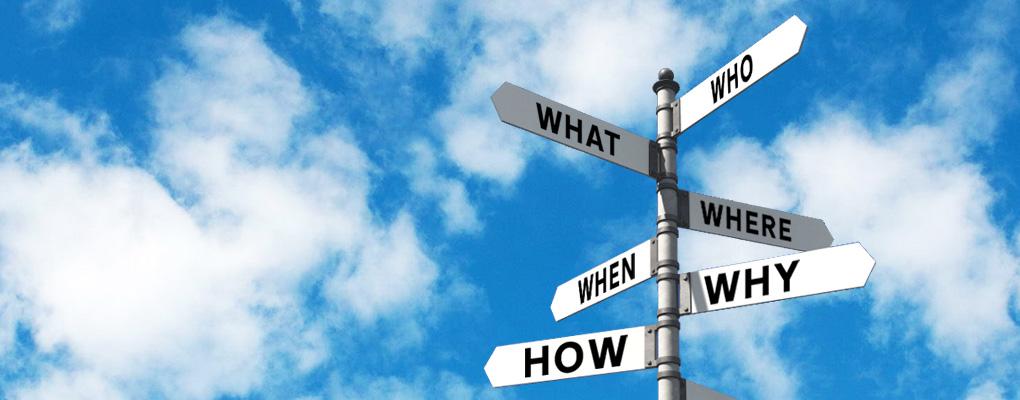 Questioning signpost